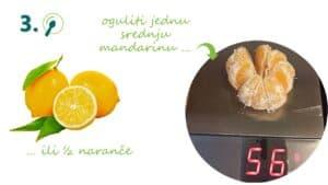 oguljena mandarina